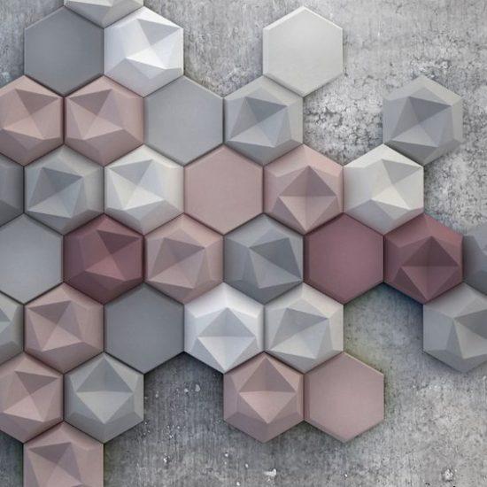 Panel Edgy Decorativo – Cerámica Interior Concrete Kaza
