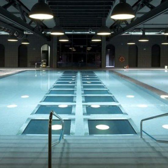 Piezas especiales piscinas Exterior La Alhondiga Bilbao Mosa