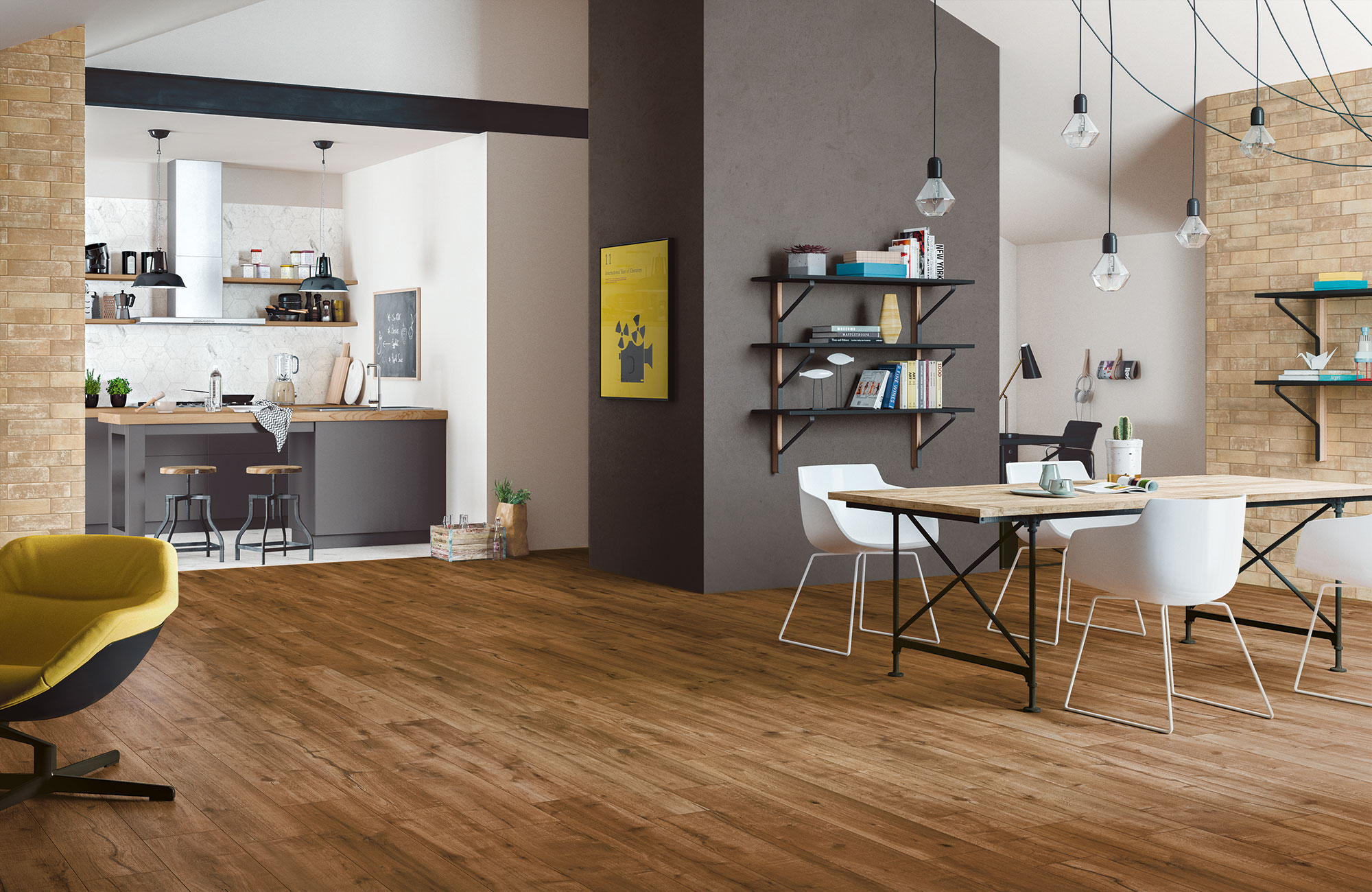 Soluciones efecto madera gres porcel nico esmaltado ditail - Gres esmaltado ...