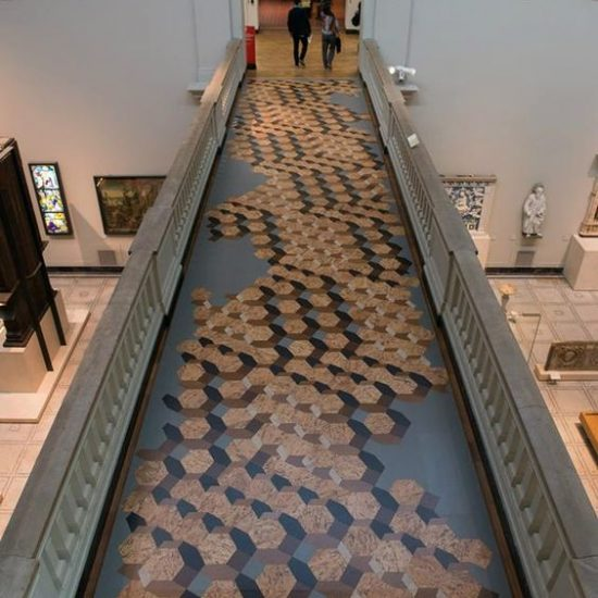 Madera Interior Pavimento Corcho Museo