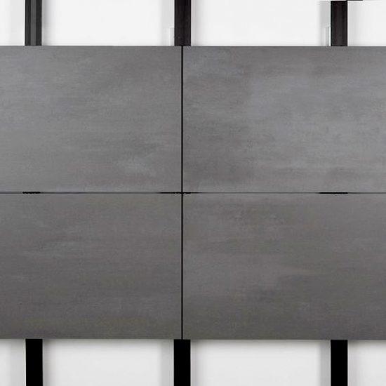 Porcelanico-Fachada-Grapa Oculta- Soluciones Ditail- Mosa greys